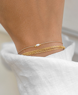 TRIPLE CHAIN Armband Gold