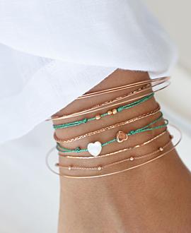 VERSATILE HEARTS  Armband Türkis