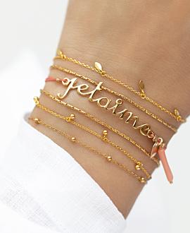 JE T'AIME  Armband Gold