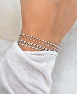 BALL CHAIN  Armband Silber