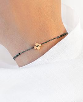 GLITTERY CLOVER  Armband Rosé