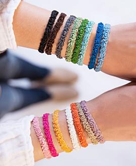 LES FLEURETTES Armband Braun