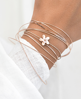 ROSY FLOWER Armband Sand