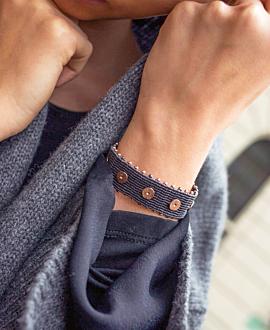GAIA Armband Anthrazit