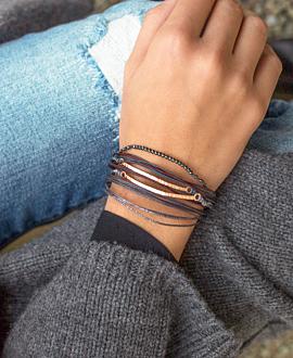 GAIA Armband Grau