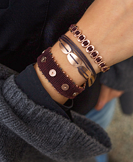 ANTHEIA Armband Antharzit