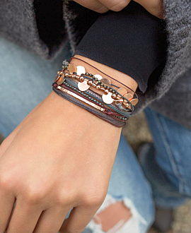 GAIA BRACELET BROWN