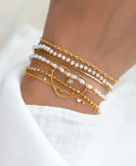 PEARLY DREAM Armband Gold