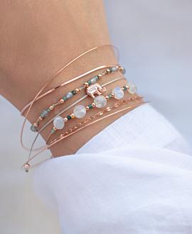 LABRADORIT  Armband Blau