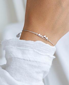 MOUNTAIN  Armband Silber