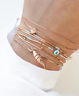 SHELL  Armband Blau