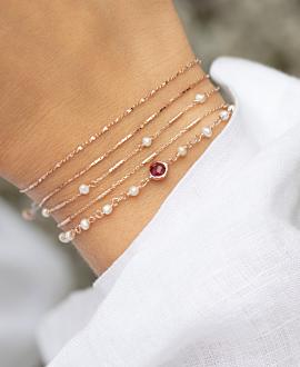 GRACIOUS PEARLS  Armband Rosé