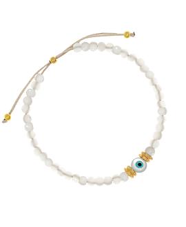 EVIL EYE|Armband Weiß