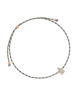 SEA TURTLE ROSÉ|Armband Blau