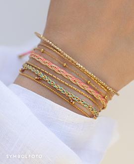 BOHEMIAN VIBE  Armband Neonpink