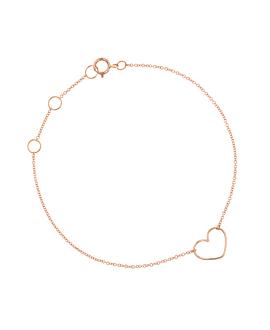 HEART Armband|14K Roségold