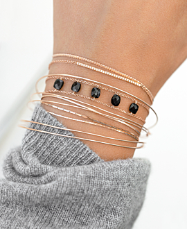BELLE  Armband Schwarz
