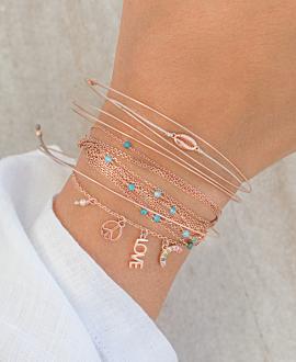 GOLDEN SHELL  Armband Rosé