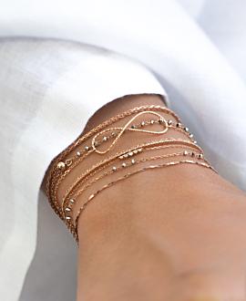 INFINITY  Armband Rosé