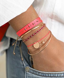 ETHNO Armband Pink