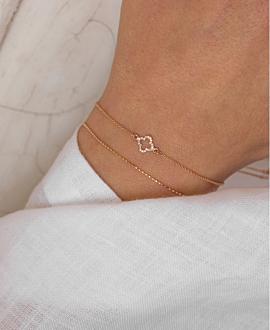 DIAMOND BRACELET  14K ROSE GOLD