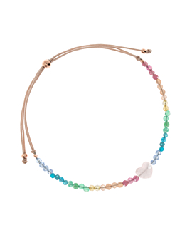ROSE QUARTZ LOVE  Armband Rainbow