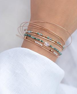 LABRADORIT  Armband Türkis
