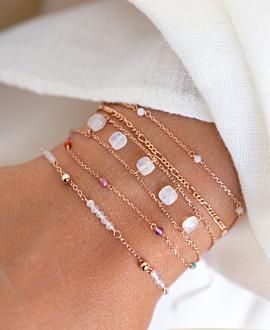 DAINTY GEMS Armband Weiß