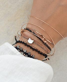 BONNE NUIT Armband Grau