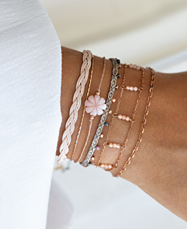 SEA FLOWER Armband Beige