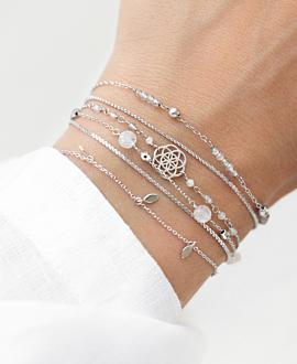 FLOWER OF LIFE  Armband Silber