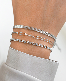 BOX CHAIN Armband Silber