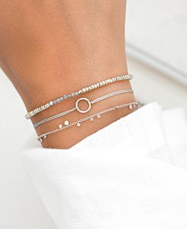 MINI CIRCLE Armband Silber