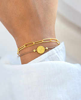 SAVE OUR PLANET  Armband Gold
