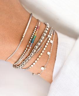 DAINTY GEMS Armband Silber
