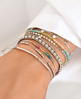 SHINY BEADS  Armband Silber