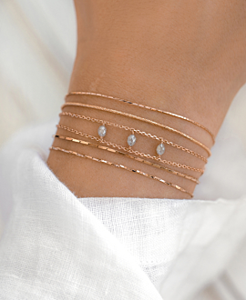 DIAMOND TRINITY  BRACELET ROSE
