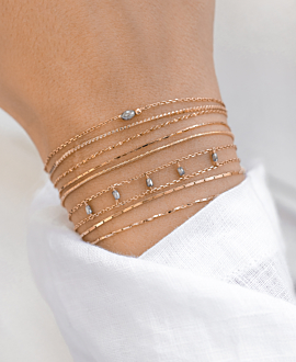 DIAMOND SHADOWS Armband Rosé