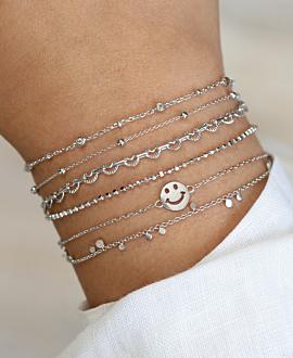 HEART CHAIN  Armband Silber