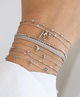 XMAS STOCKING  Armband Silber