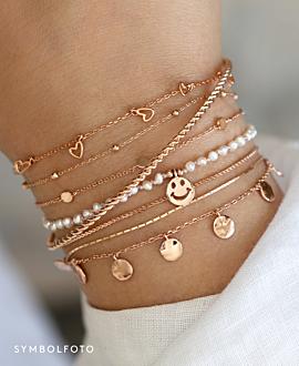 TRUE LOVE  Armband Silber