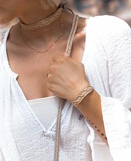 BOHO GLAM Armband Textil