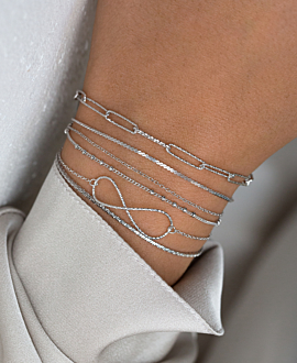 INFINITY  Armband Silber