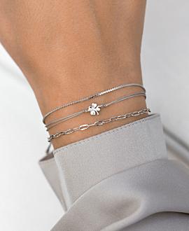 KLEEBLATT  Armband Silber