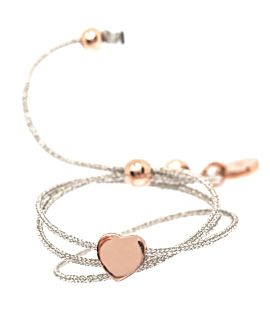 TINY HEART Armband Rosé