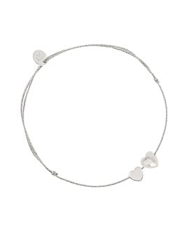 VERSATILE HEARTS  Armband Silber