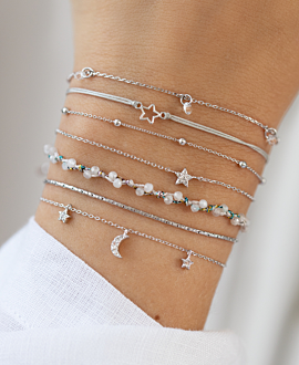 MINI WISHING STAR  Armband Silber