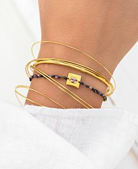 PINK TOURMALINE  Armband Gold