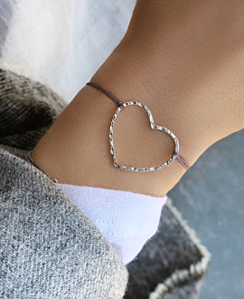 HEART Armband Anthrazit