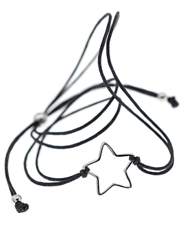 SHOOTING STAR Armband Antharzit
